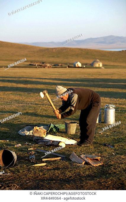 Son Kul alpine lake area, Kyrgyzstan