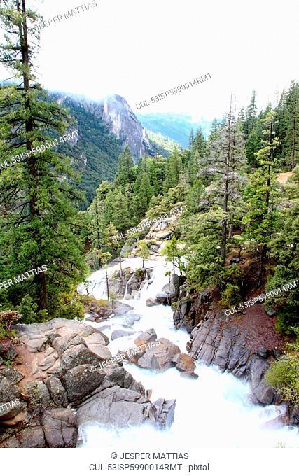 Rocky river in Yosemite National Park
