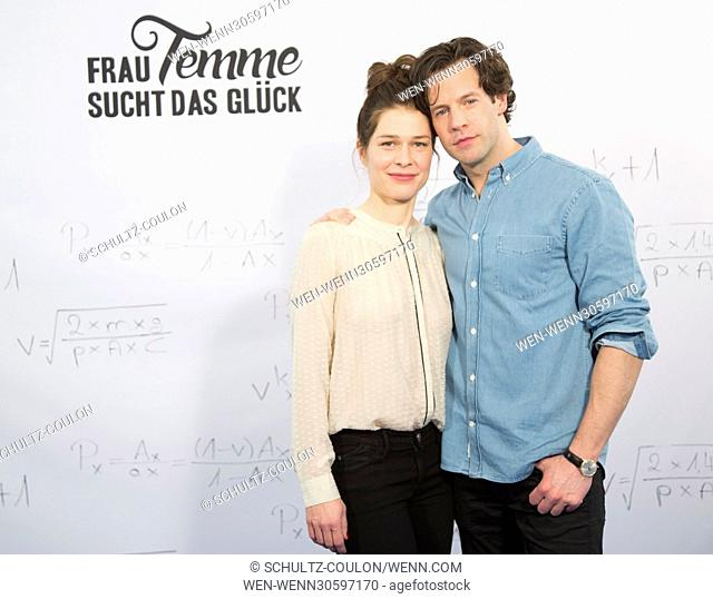 "Actors promoting the new Series """"Frau Temme sucht das Glueck"""" at Side Hotel Featuring: Meike Droste, Mikael Svensson Where: Hamburg"
