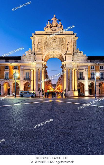 Entrance of Praca Do Comercio, Lisbon, Portugal