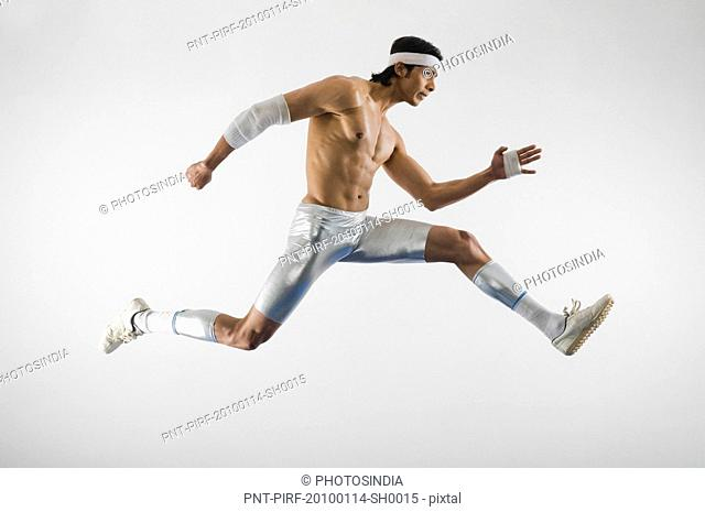 Athlete running