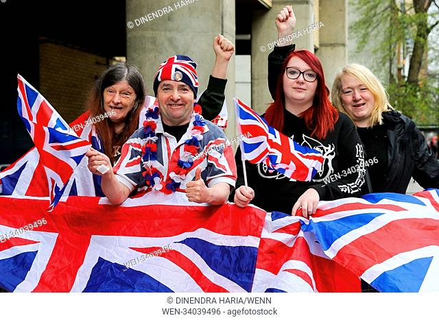 Royal fans starts to camp outside St.Mary's Hospital, Paddington in London for the birth of the Duke and Duchess of Cambridge's third child