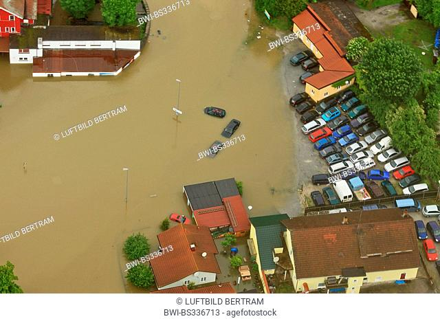 Passau flooded in June 2013, Germany, Bavaria, Passau