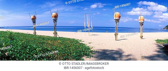 Lanterns on Kantiang Beach, island of Ko Lanta, Koh Lanta, Krabi, Thailand, Asia