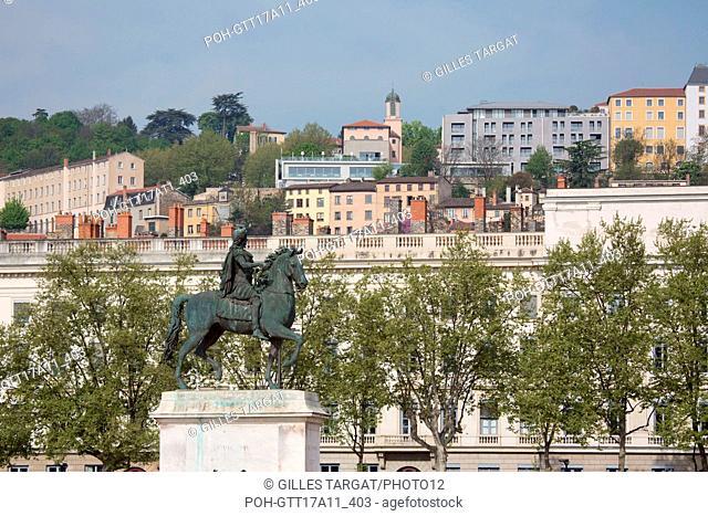 France, Lyon, Place Bellecourtyard, Equestrian statue of Louis XIV (1825), sculptor François Frédéric Lemot, Photo Gilles Targat