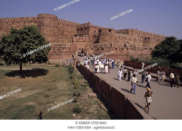 10851684, India, Agra city, red fort, fortress, hi