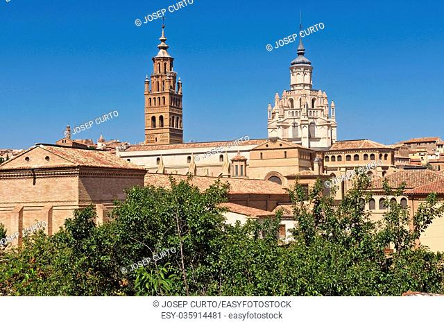 bell tower of the Catheral of Tarazona, Zaragoza province, Aragon, Spain