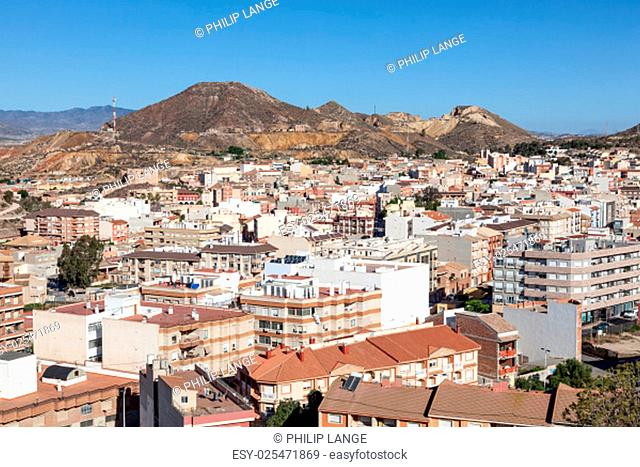 View over the town Mazarron, province of Murcia, Spain