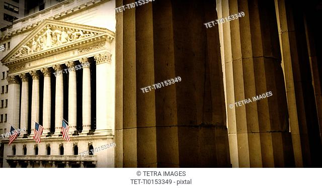USA, New York State, New York City, View of New York Stock Exchange building