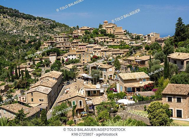 Deia, Sierra de Tramuntana, Majorca, Balearic Islands, Spain
