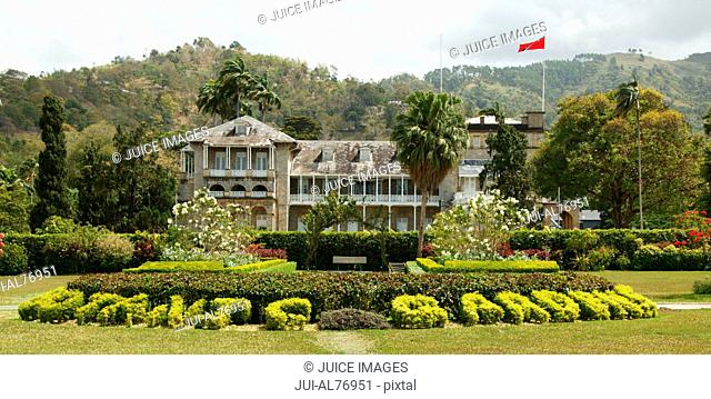 View of Botanic Gardens and Presidential Residence, Port of Spain, Trinidad