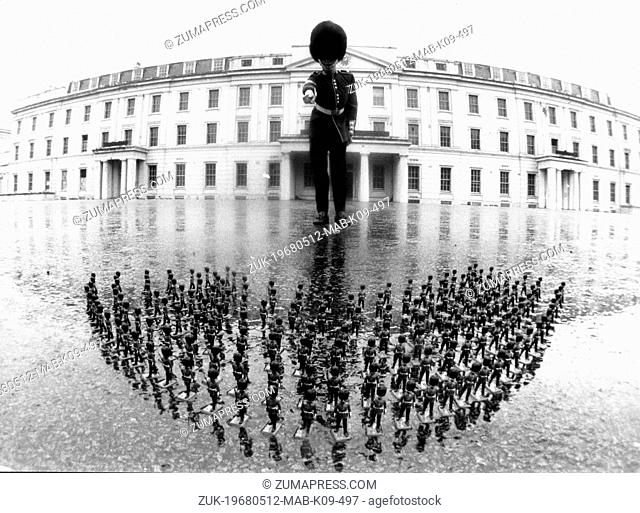 May 12, 1968 - London, England, U.K. - A local toy manufacturer asked LANCE-SERGEANT D. ARCHIBALD of the Scots Guard Regiment to model for and help with the...