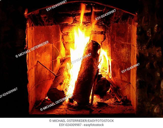A Fireplace closeup