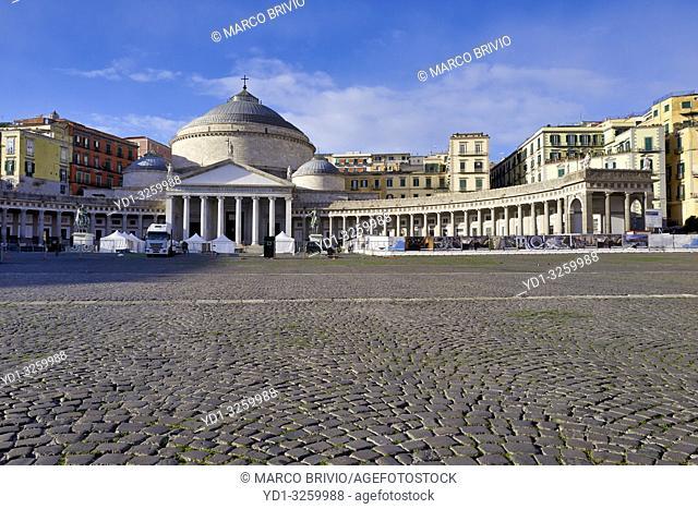 Naples Campania Italy. Piazza del Plebiscito