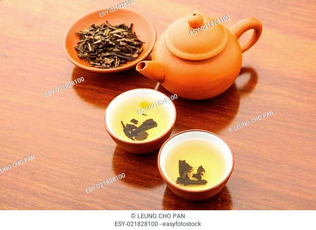 Chinese dried tea leave and drink