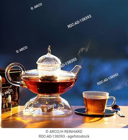 Black Tea tea-pot and cup