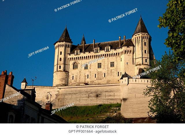 CHATEAU DE SAUMUR, MEDIEVAL FORTRESS BECOME THE PALACE AND RESIDENCE OF THE COUNTS OF ANJOU, MAINE-ET-LOIRE 49, FRANCE