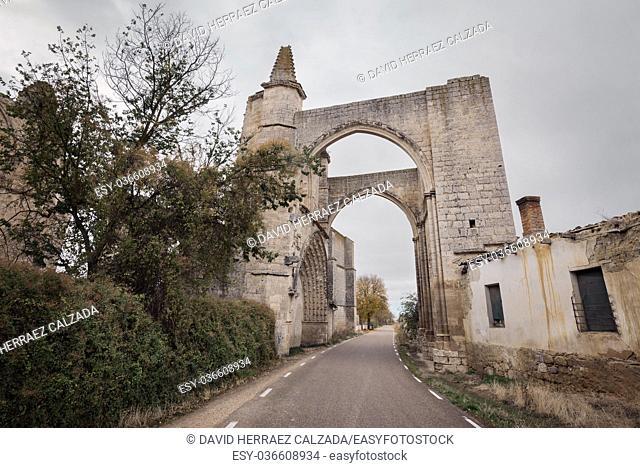 Ruins of San Anton monastery in Camino de Santiago, Burgos, Spain