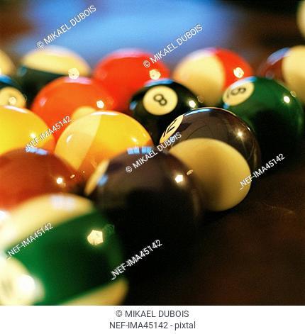 Billiard balls close-up