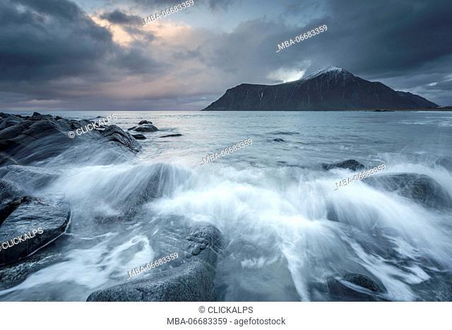 Skagsanden beach, Lofoten Island, Norway