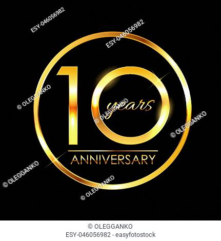 Template 10 Years Anniversary Vector Illustration EPS10