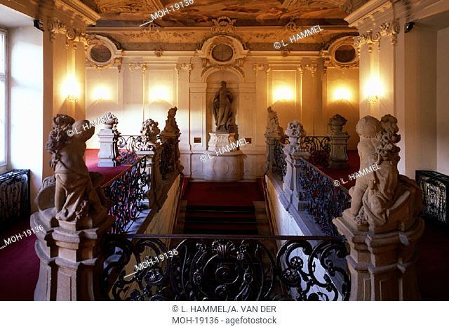 Prag/Palais Sylva-Taroucca, Treppenhaus