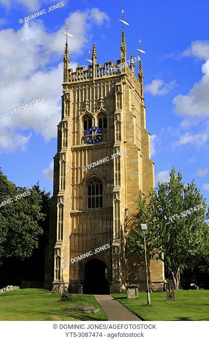 The AbbeyBell Tower, Abbey Park, Evesham, Worcestershire, England, Europe