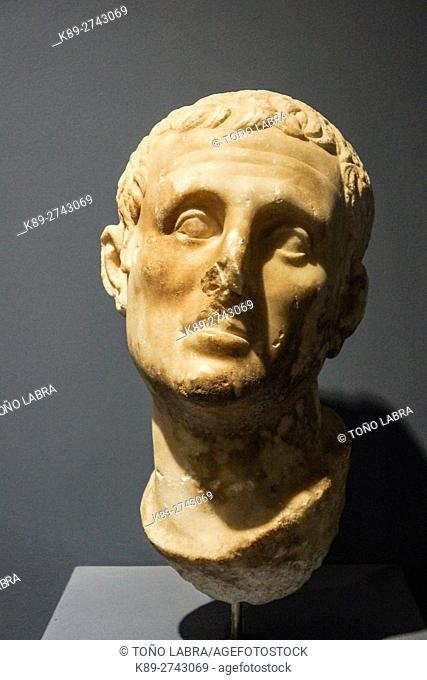 Male Head (1st Century AD). Ephes Museum. Classic Greek Collection. Asia Minor. Turkey