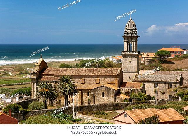 Royal Monastery of Santa Maria-12th century, Oia, Pontevedra province, Region of Galicia, Spain, Europe