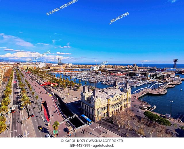 View of Port Vell, Barcelona, Catalonia, Spain