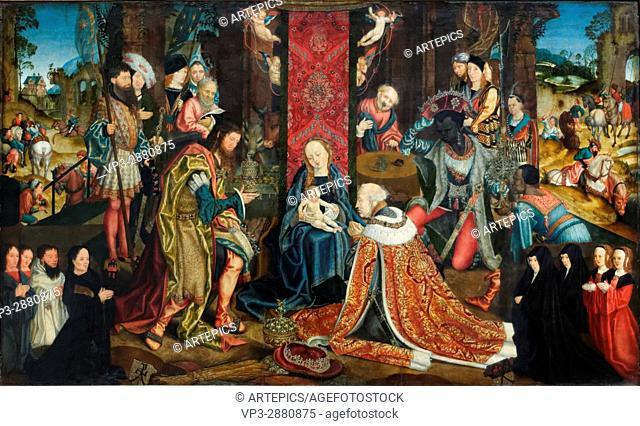 Master of the Aachen Altar - The Adoration of the Magi - 1510 - XVI th Century - German School - Gemäldegalerie - Berlin