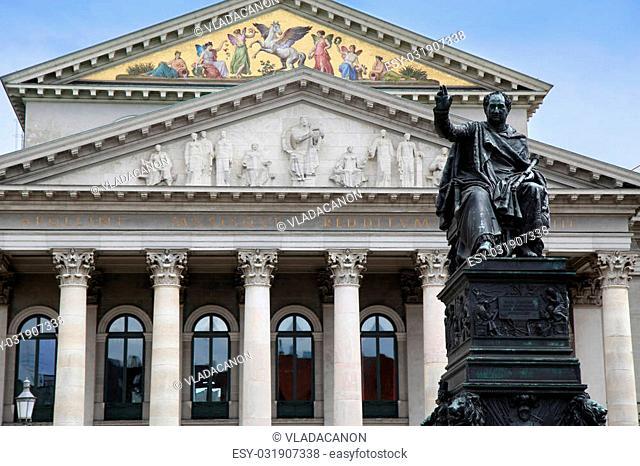 The National Theatre of Munich (Residenztheater) at Max-Joseph-Platz Square in Munich, Germany