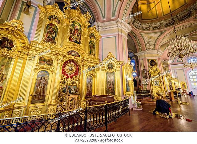 Interior of Vladimirskaya Church, Saint Petersburg (Russia)