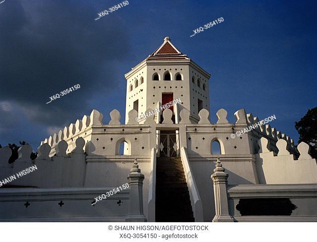 Phra Sumen Fort in Bangkok in Thailand in Southeast Asia Far East