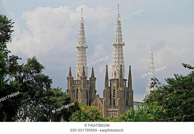 The Catholic Cathedral of Jakarta in Indonesia