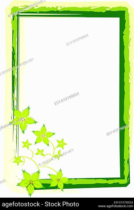 Hintergrund Karte Gutschein grün