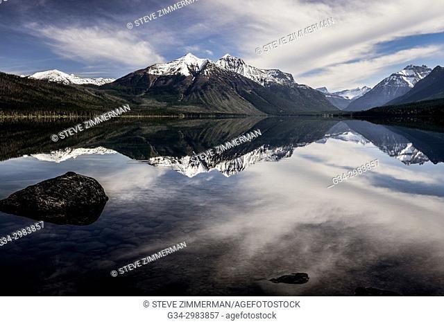 Time to Reflect, Lake McDonald, Glacier National Park, , Montana, USA