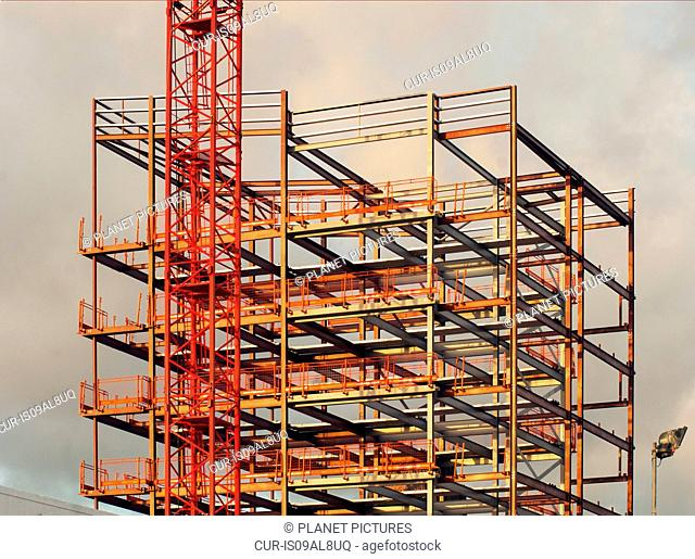 Framework of building during construction