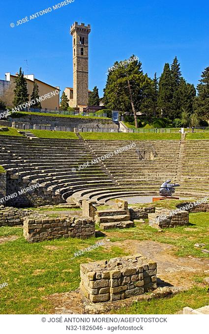 Fiesole, Roman Theatre, Florence province, Tuscany, Italy, Europe