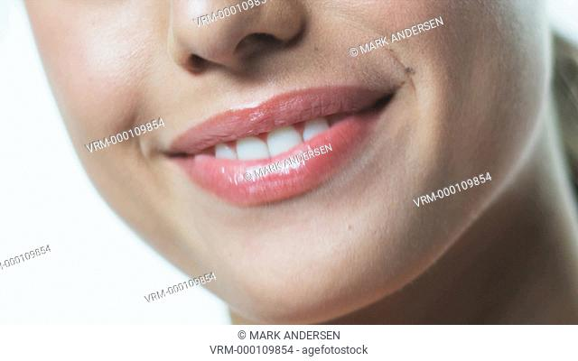 young woman's mouth