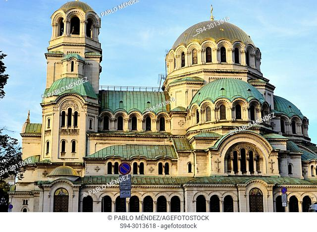 Alexander Nevski cathedral-monument in Sofia, Bulgaria