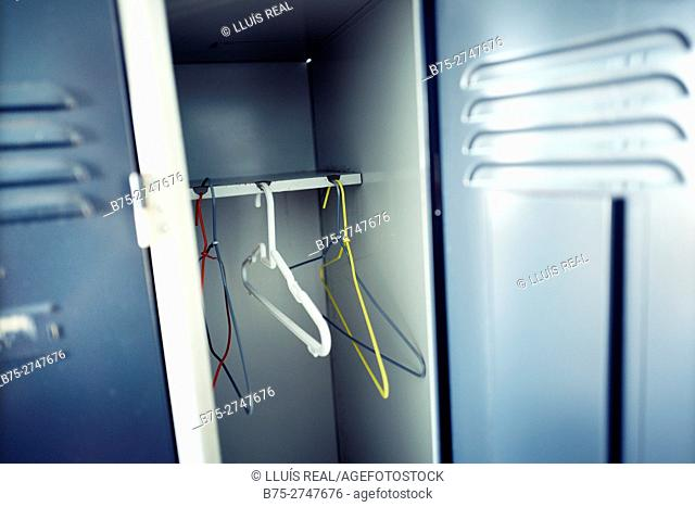 Hangers in locker