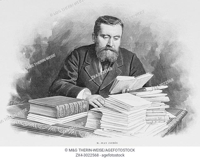 Jean Jaurès, French socialist leader, Picture from the French weekly newspaper l'Illustration, 6th October 1900