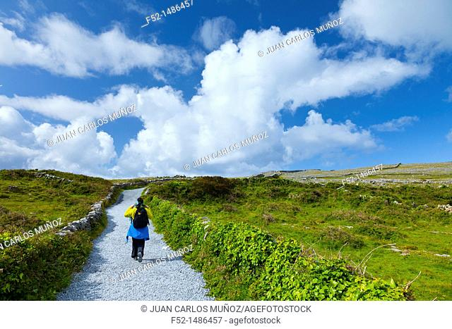 Dún Aonghasa - Fort of Aongus Trail  Inishmore Island, Aran Islands, Galway County, West Ireland, Europe