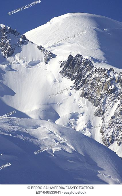 Mont Blanc, Mont Blanc Massif, Chamonix, Alps, France