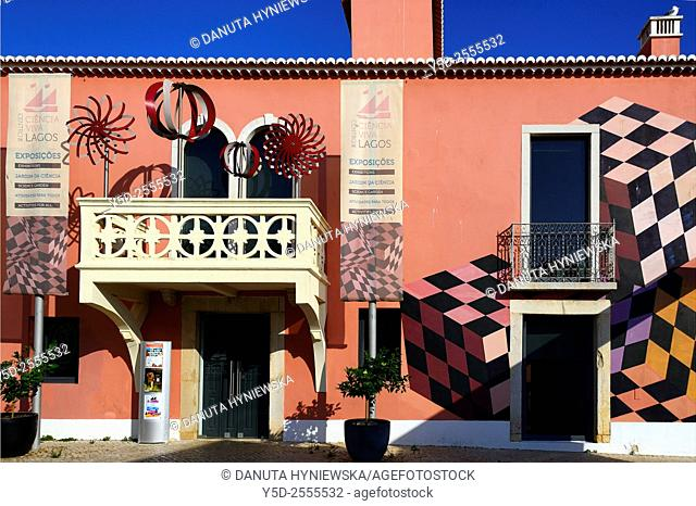 Europe, Portugal, Algarve, Faro district, Lagos, front facade of Ciencia Viva - National Agency for Culture Science and Technology near fish market