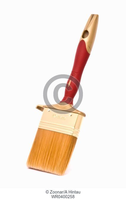 Clean professional paint brush isolated on white background