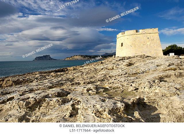 Moraira castle by the beach, Moraira, Alicante, Spain