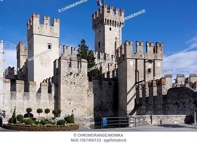 Scaliger Castle, Sirmione, Lake Garda, Province Brescia, Region Lombardy, Italy, Europe