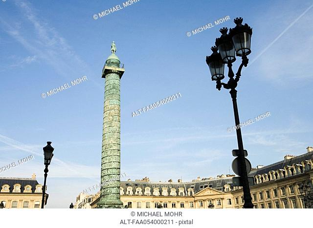 France, Paris, Place Vendome and the Colonne Vendome